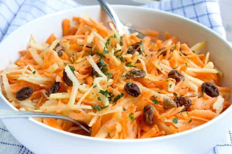Möhren-Rosinen-Salat