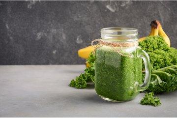 Grüner Smoothie mit Grünkohl