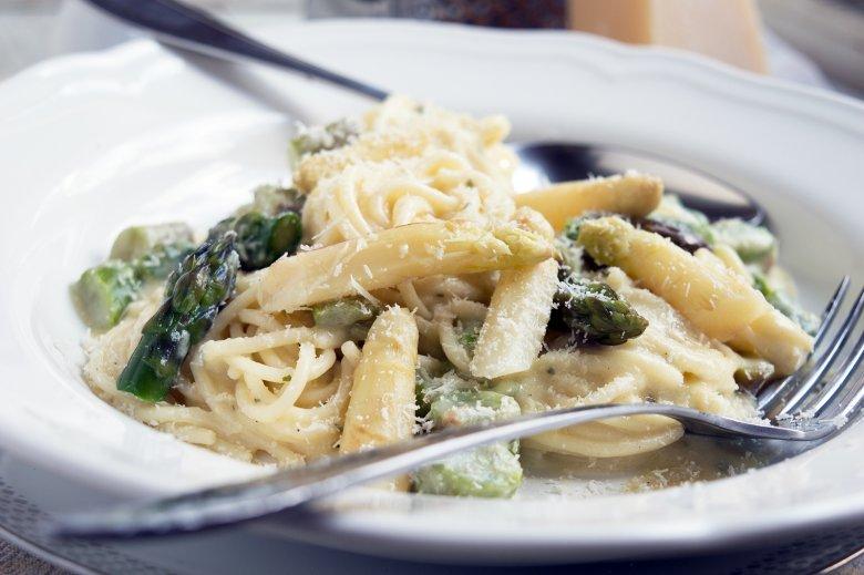 Spaghetti mit Spargel