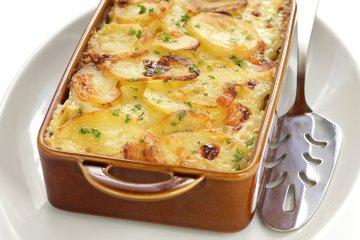 Überbackene Sahnekartoffeln